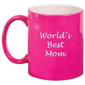 Mom Ceramic Coffee Tea Mug Cup Hot Pink Gift for Mom: Kitchen & Dining