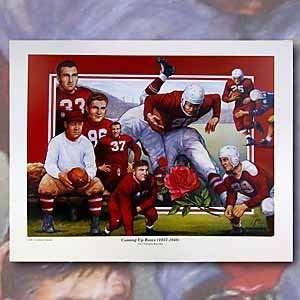 Coming up Roses (1937 1948) 100 Years of Nebraska Football Print   4