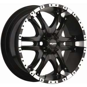 Ballistic Wizard 18x9 Black Wheel / Rim 5x150 with a 14mm Offset and a