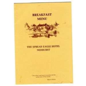 Spread Eagle Hotel Midhurst England Breakfast Menu