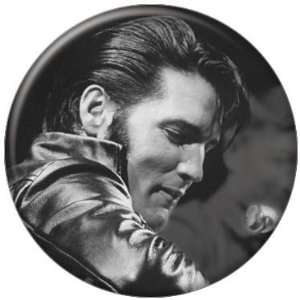 Elvis Presley Black and White Leather Button 81103 [Toy