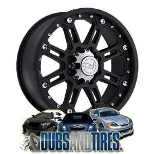 17 Inch 17x9 Black Rhino wheels Rockwell Matte Black wheels rims