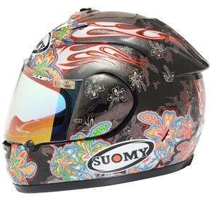 Suomy Spec 1R Extreme Flower Helmet   X Large/Anthracite