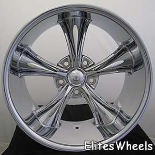 20x10 Chrome Wheel Boss 338 5x5 Chevy Rims