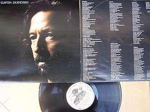 ERIC CLAPTON JOURNEYMAN YUGOSLAV LP 1990 GATEFOLD+INNER