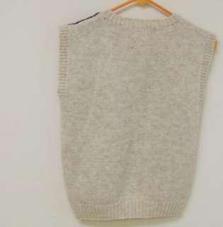 80s Vintage Eagles Nest Shetland Wool Sweater Vest sz S Country