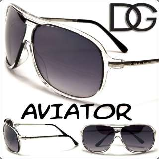 DG Eyewear Fashion Aviator Designer Sunglasses Women Men Clear Black