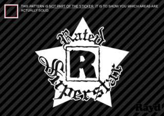 Rated R Superstar Sticker Decal Die Cut