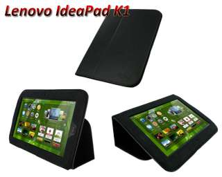 Slim Leather Folio Case Cover Stand for Lenovo IdeaPad Tablet K1 10.1