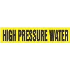 HIGH PRESSURE WATER   Self Stick Pipe Markers   outside diameter 1 1/2