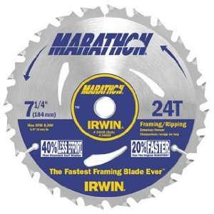 Pack Irwin 14030 Marathon 7 1/4 x 24 Tooth Framing/Ripping Circular