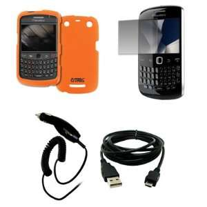 EMPIRE Orange Rubberized Hard Case Cover + Screen