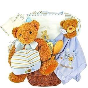 New Baby Boys Firsts Gift Basket   Shower Gift Idea for