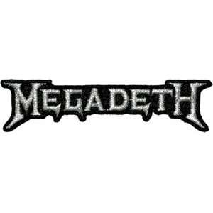 Megadeth Silver Music Band Logo Iron On Embroidered Applique Patch