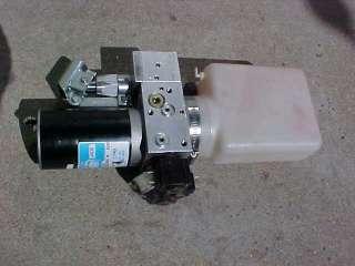 12 volt DC ELECTRIC HYDRAULIC PUMP w/RESERVOIR & AUXILLARY PUMP
