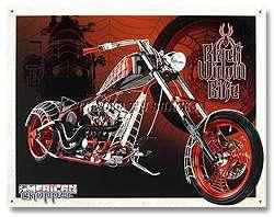 Metal Sign   American Chopper Black Widow Motorcycle Bike #1292