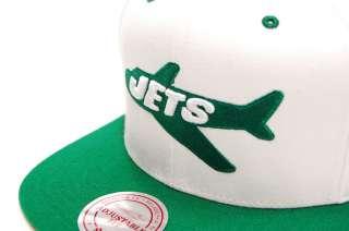 New York Jets Snapback Hat Cap NFL 2 Tone NY White M&N