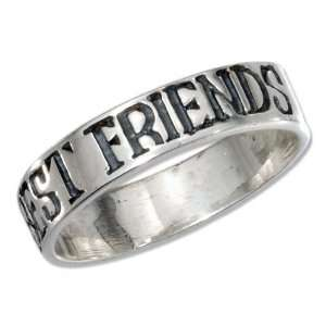Sterling Silver Best Friends Forever Band Ring (size 10) Jewelry