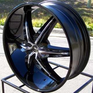 20 BLACK WHEELS RIMS TAHOE SILVERADO TUNDRA TITAN F150