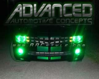2010 10 Chevy CAMARO Green Headlight + Fog Lights HALO