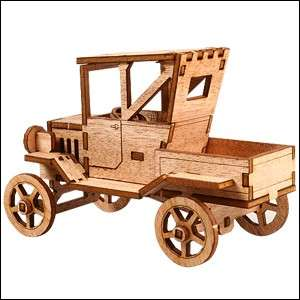 Korea Young Modeler Ford T car Pickup Truck YM762 DIY Wooden Model Set