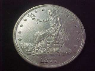 1877 S TRADE DOLLAR VERY NICE UNC MS COIN BEAUTY LOOK