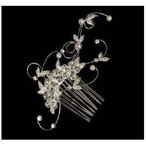 Curled Wire and Rhinestone Hair Comb 8056 Beauty