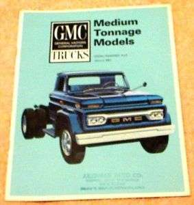 1965 GMC Medium Duty Trucks Brochure Diesel 8 pgs.