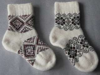 pr. Mens/Womens Warm Winter 50% angora Wool Yarn Socks 8,5 in