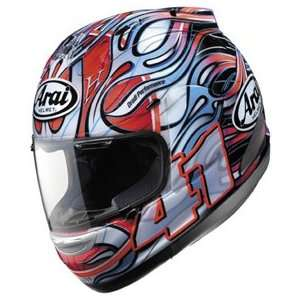 Corsair V Haga Full Face Motorcycle Riding Race Helmet   WSBK Rainbow