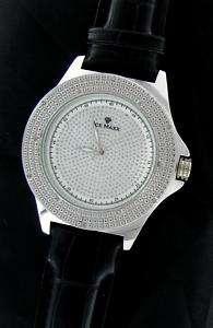 Genuine 12 Diamond ICE MAXX Hip Hop Bling Watch Rhodium