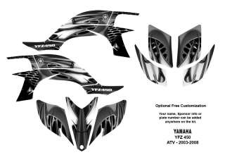 YAMAHA YFZ450 Atv Quad Graphic Decal Kit #4444 Metal