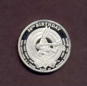 Bugs Bunny 50th Birthday 1oz silver art round .999 fine bullion