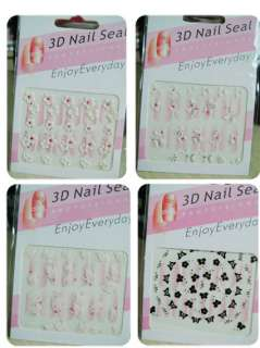 pack fashional 3D Fingernail Finger Nail Art Stickers