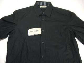 BURBERRY LONDON BUTTON DOWN SHIRT MENS BLACK LARGE NWT NEW