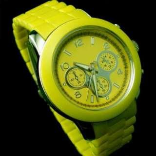 Promotion Elegant lovely Light Yellow Women Lady Wrist Watch