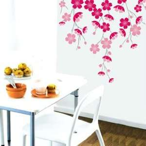 Holiday Decoration Wall Decor Removable Decal Sticker   Pretty Cherry