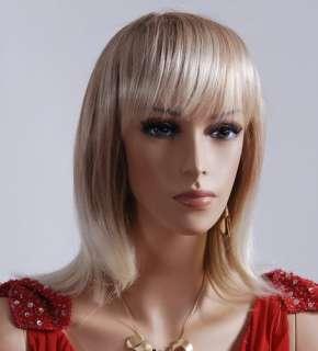 sitting female mannequin model emily 1 dark short wig shown