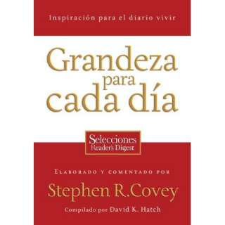 Grandeza para cada dia Inspiracion para el diario vivir (Spanish
