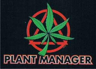PLANT MANAGER Adult Humor Pot Office Weed Funny T Shirt