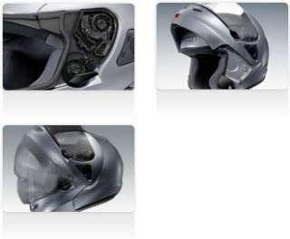 SHOEI MULTITEC MOTORCYCLE MOTORBIKE HELMET BLACK XL NEW