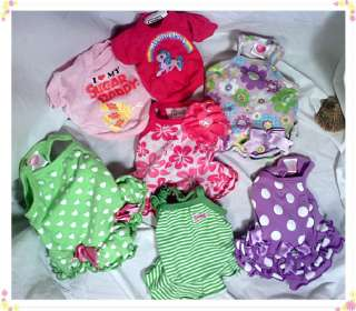 Piece Girl Dog Clothes, CUTE dresses XXS Lot