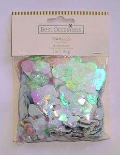 NIP All Occasion Heart Spangles Confetti Valentine Wedding Love 3 oz