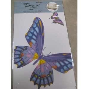 Tattoo It ER13888 Large Purple Butterfly Sticker