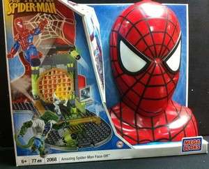 Marvel Mega Bloks COMPLETE SET 2068 NEW Spider Man Face Off Lego Head