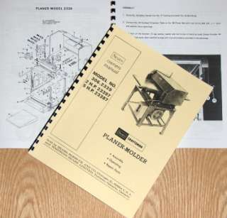 CRAFTSMAN 306.2339 Wood Thickness Planer Molder Instructions & Parts