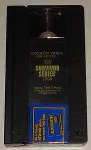 wwe WWF SURVIVOR SERIES 94 ~ 1994 Colseum Video vhs; Bret Hart vs Bob