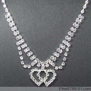 Lots Fashion 12Sets Crystal Rhinestone Necklaces&Earrings #31