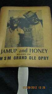 JAMUP AND HONEY STARS OF WSM GRAND OLE OPRY FAN 9 X 7