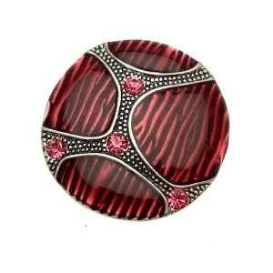 Acosta Jewellery   Fuchsia Pink Enamel & Crystal   Adjustable Round